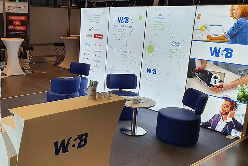 IT FOR BUSINESS 2020: Stand W&B / Aufbau 1