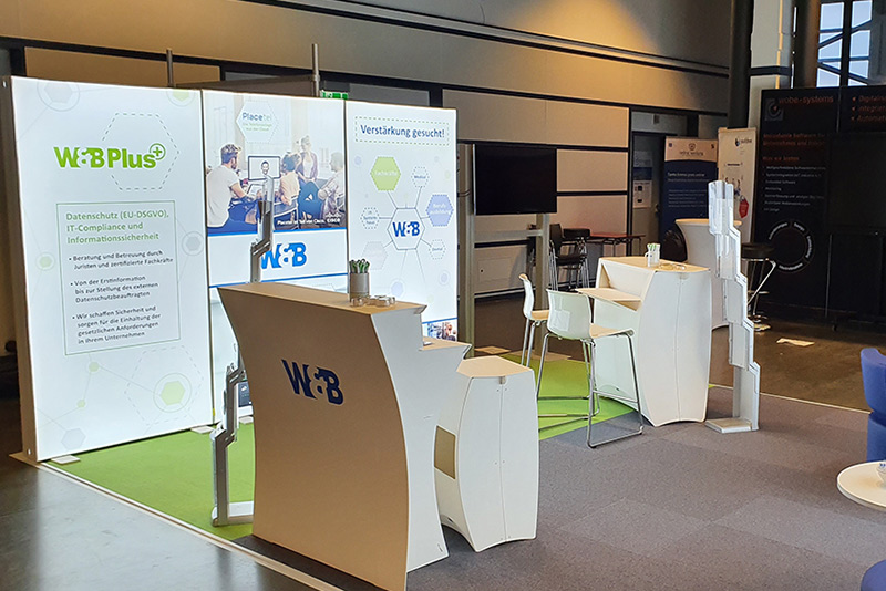 IT FOR BUSINESS 2020: Stand W&B / Aufbau 2